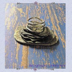 Artisan Boho Sterling Silver Wrap Ring